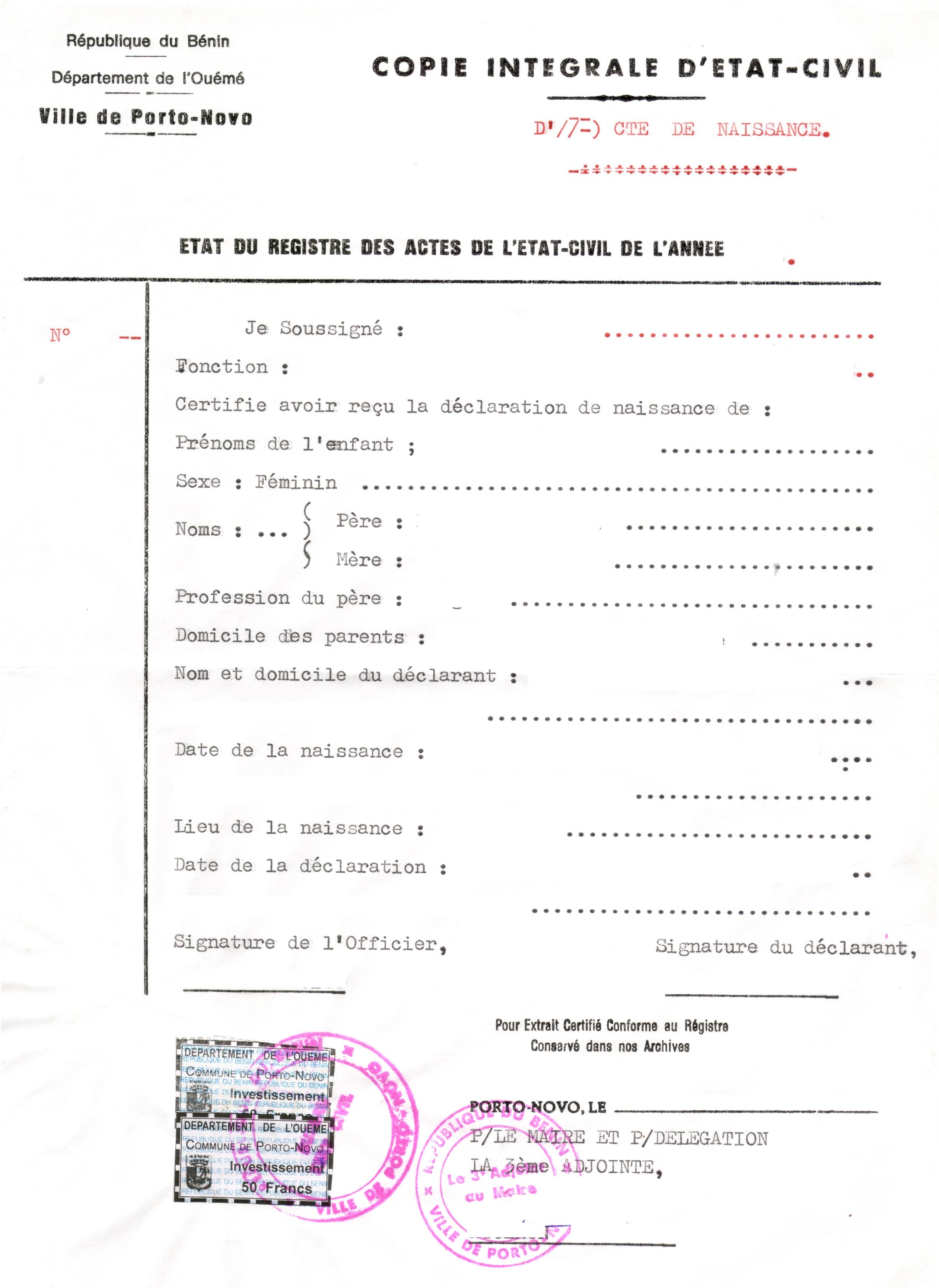 Dating-Standort in Republik von Benin