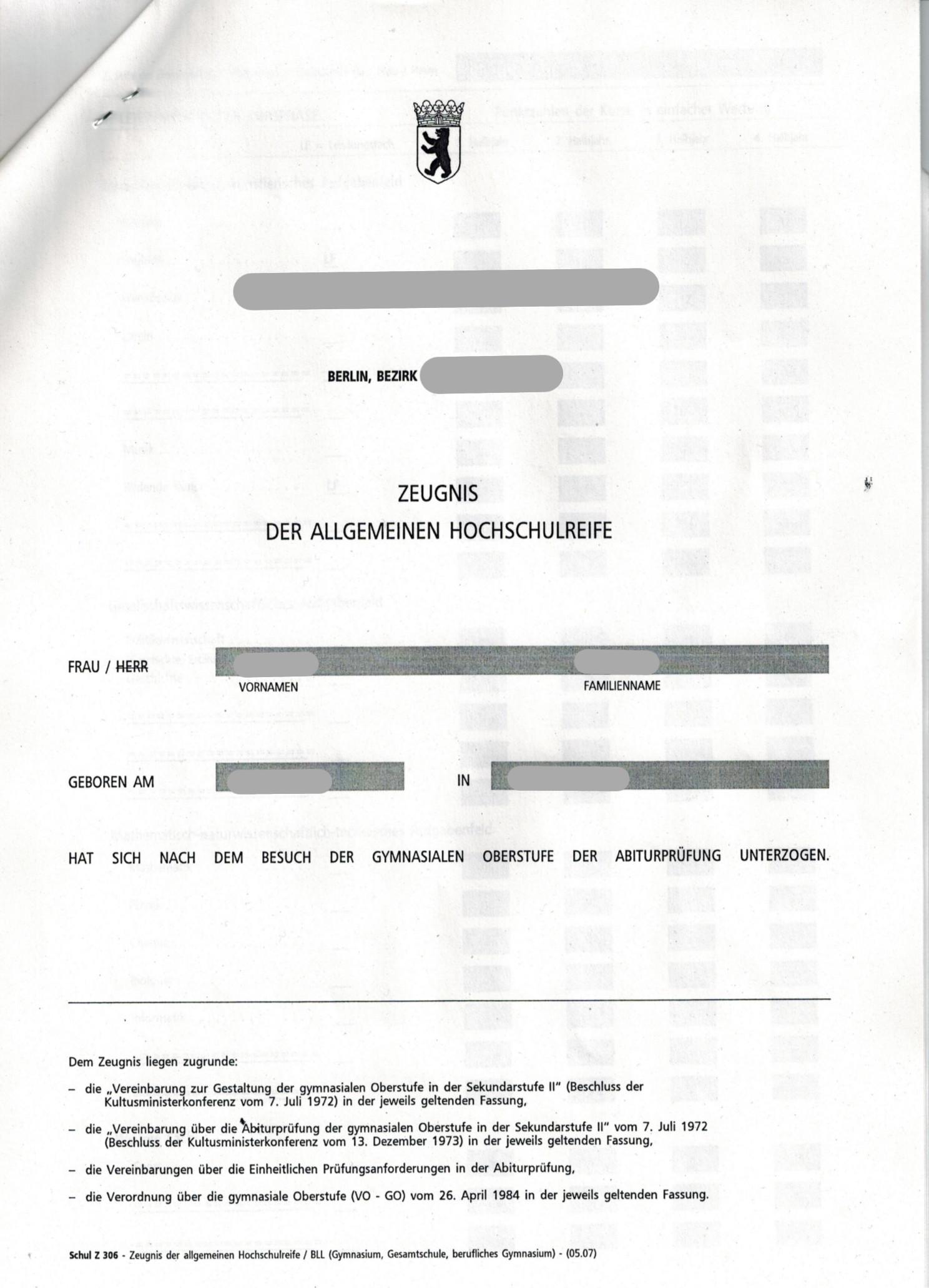 Abi Abitur Abiturzeugnis Kaufen Berufszertifikate Diplome 8